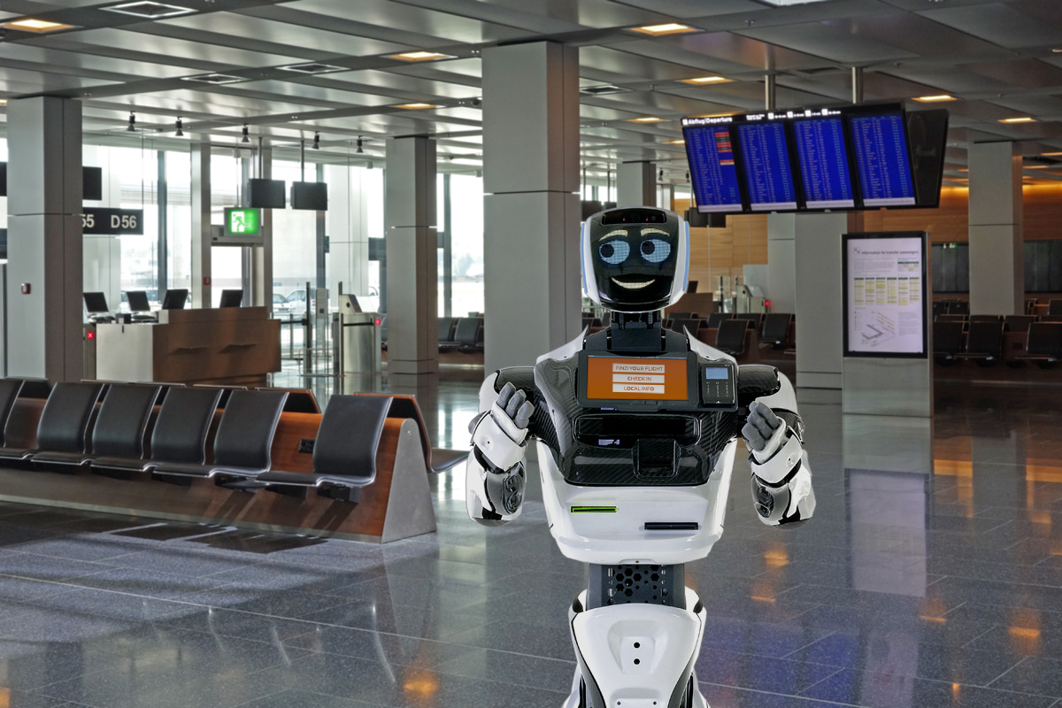 Robot at the airport