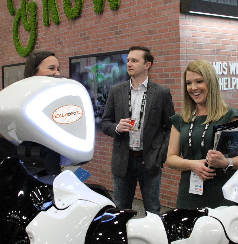rental robot for trade shows and events